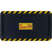 "Hog Heaven™ Sign Mat, No Smoking, Vertical Yellow Border, 69""x46""x5/8"""