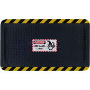 "Hog Heaven™ Sign Mat, Danger Keep Hands Clear, Horizontal Yellow Border, 58""x33""x5/8"""