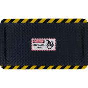 """Hog Heaven™ Sign Mat, Danger Keep Hands Clear, Vertical Yellow Border, 69""""x46""""x5/8"""""""