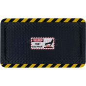 "Hog Heaven™ Sign Mat, Danger Hot Equipment, Vertical Yellow Border, 69""x46""x5/8"""
