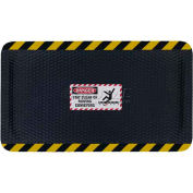 "Hog Heaven™ Sign Mat, Danger Stay Clear of Moving Conveyors, Vert Yellow Border, 69""x46""x5/8"""
