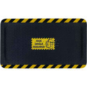 "Hog Heaven™ Sign Mat, Face Shield Required, Horizontal Yellow Border, 69""x46""x5/8"""