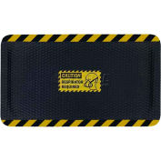 "Hog Heaven™ Sign Mat, Caution Respirator Required, Vertical Yellow Border, 69""x46""x5/8"""