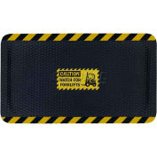 "Hog Heaven™ Sign Mat, Watch For Forklifts, Vertical Yellow Border, 69""x46""x7/8"""