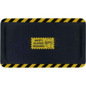 """Hog Heaven™ Sign Mat, Safety Glasses Required, Horizontal Yellow Border, 69""""x46""""x7/8"""""""
