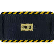 "Hog Heaven™ Sign Mat, Caution, Horizontal Yellow Border, 69""x46""x7/8"""