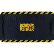 "Hog Heaven™ Sign Mat, No Food Or Drink, Horizontal Yellow Border, 69""x46""x7/8"""