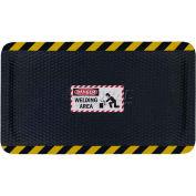 "Hog Heaven™ Sign Mat, Danger Welding Area, Vertical Yellow Border, 69""x46""x7/8"""