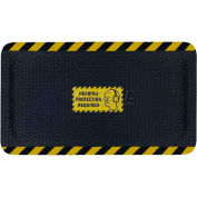 "Hog Heaven™ Sign Mat, Hearing Protection Required, Horizontal Yellow Border, 69""x46""x7/8"""