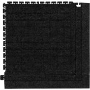 "Hog Heaven Fashion Modular Tile II Corner Tile Coal Black 21-7/8"" x 21-7/8"""