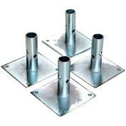 """Fortress Industries 5"""" Galvanized Steel Scaffold Baseplates - FT0405SB"""