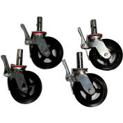 """Fortress Industries 8"""" Galvanized Steel Scaffold Casters - FT0408SC"""