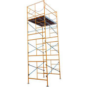 Fortress Industries 15' x 7' x 5' Steel Scaffold Tower with Baseplates - FT1575BP