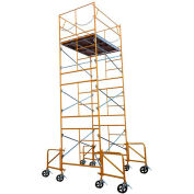Fortress Industries 15' x 7' x 5' Steel Scaffold Tower with Casters - FT1575SC