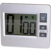 Tatco Desktop Digital Timer, Silver/Black