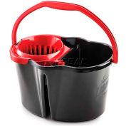Libman® 4 Gallon Clean & Rinse Bucket w/ Wringer, Black - 1056 - Pkg Qty 3