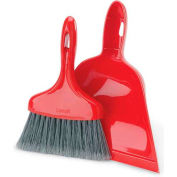 Libman® Commercial Dust Pan With Whisk Broom - Red - Pkg Qty 6
