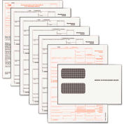 "Tops® 1099-MISC  Tax Form 5 Kit with Envelope Cut Sheet 8-1/2"" x 11"""