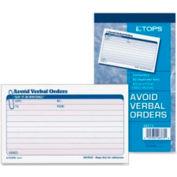"Tops® Verbal Orders Book 4-1/4"" x 7-1/4"" Black, 50 Forms/Book"
