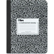 "TOPS® Composition Book w/ Black Hard Cvr 63795, 9-3/4"" x 7-1/2"", White, 100 Sheets/Pack"