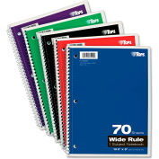"TOPS® Wirebound 1-Subject Notebook 65000, Wide, 8"" x 10-1/2"", 70 Sheets/Pad, 1 Pad/Pack"