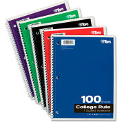 "TOPS® Wirebound 1-Subject Notebook 65161, 8-1/2"" x 11"", 100 Sheets/Pad, 1 Pad/Pack"