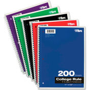 "TOPS® Wirebound 5-Subject Notebook 65581, 8-1/2"" x 11"", 200 Sheets/Pad, 1 Pad/Pack"
