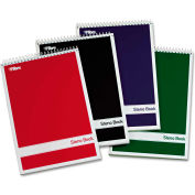 "TOPS® Steno Book W/Assorted Colored Cvr 80220, 6"" x 9"", White, 80 Sheets/Pad, 4 Pad/Pack"