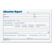 """Tops® Absentee Report Forms, 6"""" x 4"""", White, 100 Sheets/Pad, 2 Pads/Pack"""