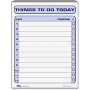 """Tops® Things To Do Today Pad, 8-1/2"""" x 11"""", White, 100 Sheets/Pad"""