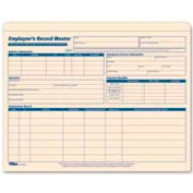 "Tops® Employee Record Master File Jackets, 25-3/4"" x 9-1/2"", Manila, 20/Pack"