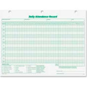 "Tops® Daily Attendance Record Forms, 11"" x 8-1/2"", White, 50 Sheets/Pack"