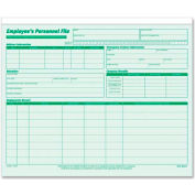 "Tops® Employee Record File, 25-3/4"" x 9-1/2"", Green, 20/Pack"