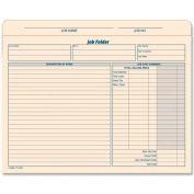 "Tops® Job Folder File Jackets, 25-3/4"" x 9-1/2"", Manila, 20/Pack"