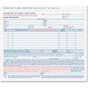 """Tops® Bill Of Lading Forms, 3-Part, Carbonless, 8-1/2"""" x 7"""", White, 50 Sets/Pack"""