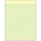 """Tops® Glue Top Legal Pad, 8-1/2"""" x 11"""", Wide Ruled, Canary, 50 Sheets/Pad, 12 Pads/Pack"""