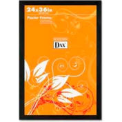 "Dax® Poster Frame, Wall Mountable, Horizontal/Vertical, 24"" x 36"", Wood, Black"