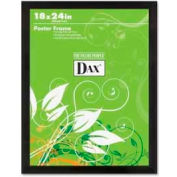 "Dax® Poster Frame, Wall Mountable, Horizontal/Vertical, 18"" x 24"", Wood, Black"