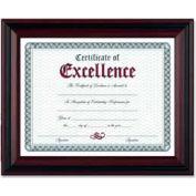 "Dax® Document Frame, Desktop/Wall Mountable, 13"" x 10-1/2"", Rosewood"