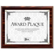 "Dax® Award Plaque, Wall Mountable, Horizontal/Vertical, 11"" x 8-1/2"", Wood, Walnut"