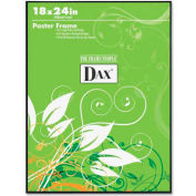 "Dax® Poster Frame, Wall Mountable, Horizontal/Vertical, 18"" x 24"", Plastic, Black"