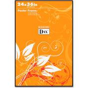"Dax® Poster Frame, Wall Mountable, Horizontal/Vertical, 24"" x 36"", Plastic, Black"