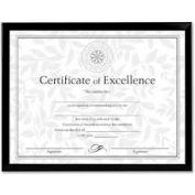 "Dax® Document Frame, Desktop/Wall Mountable, 10"" x 8"", Plastic, Black"