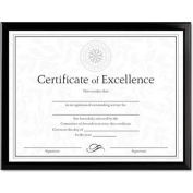 "Dax® Value U-Channel Document Frame, Desktop/Wall Mountable, 11"" x 8-1/2"", Plastic, Black"
