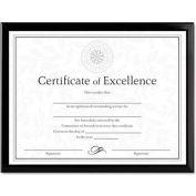 "Dax® Value U-Channel Document Frame, Desktop/Wall Mountable, 11"" x 8-1/2"", Plastic, Black"