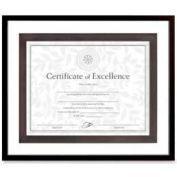 "Dax® Upper West Side Document Float Frame, Desktop/Wall Mountable, 15"" x 12-1/2"", Black"