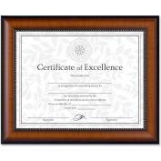 """Dax® Document Frame, Desktop/Wall Mountable, Horizontal/Vertical, 13-1/8"""" x 10-5/8"""", Walnut"""