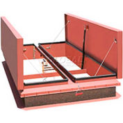 "Bilco® Automatic Smoke Vent DSH-4896, Double Leaf, Galvanized Steel, 96""L X 48""W"