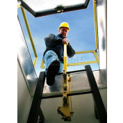 Bilco® LU-1 Yellow Powder Coated Steel Ladder Safety Post