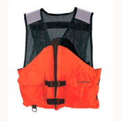 Stearns® Work Zone Gear™ Life Vest, USCG Type III, Orange, Nylon, XL